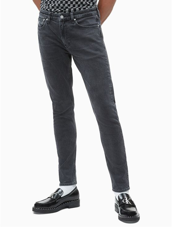 Calca-Jeans-Five-Pockets-Slim-Taper-CK50---Preto