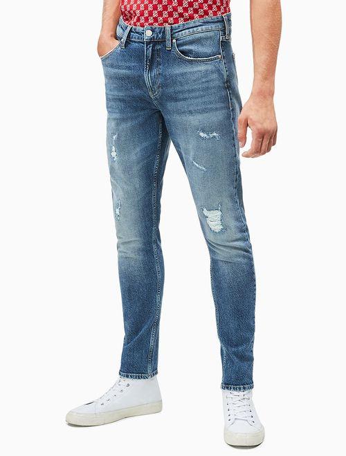 Calça Jeans Five Pockets Slim Taper CK50 - Azul Médio