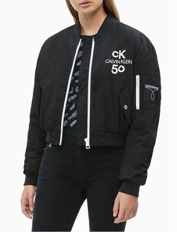 Jaqueta-Fem-Bomber-Logo-Cropped-CK50---Preto