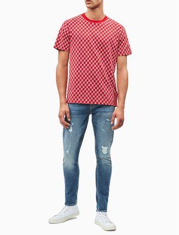 Calca-Jeans-Five-Pockets-Slim-Taper-CK50---Azul-Medio