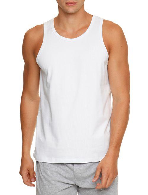 Kit 2 Camisetas De Cotton Regata - Branco 2