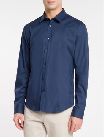 Camisa-Calvin-Klein-Extra-Slim-Simples---Azul-Marinho