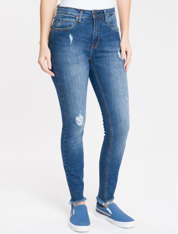 Calca-Jeans-Five-Pockets-High-Rise-Skinn---Azul-Medio