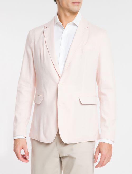 Blazer Regular Linen - Rosa Claro
