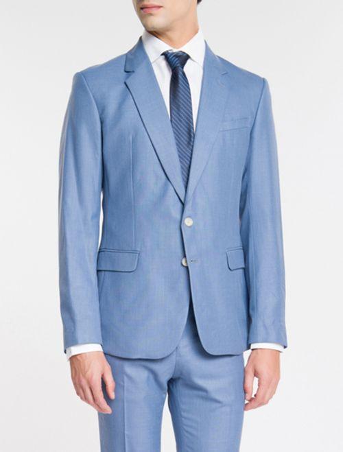 Costume Slim Pv Riscado - Azul Claro
