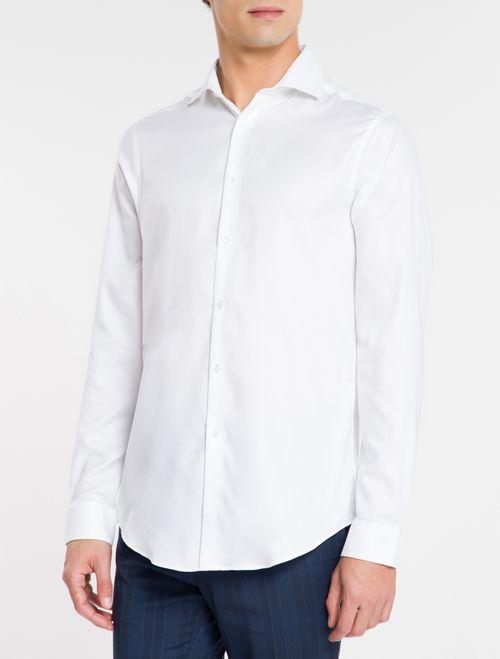 Camisa Básica Slim Fit Iron Com Elastano - Branco 2