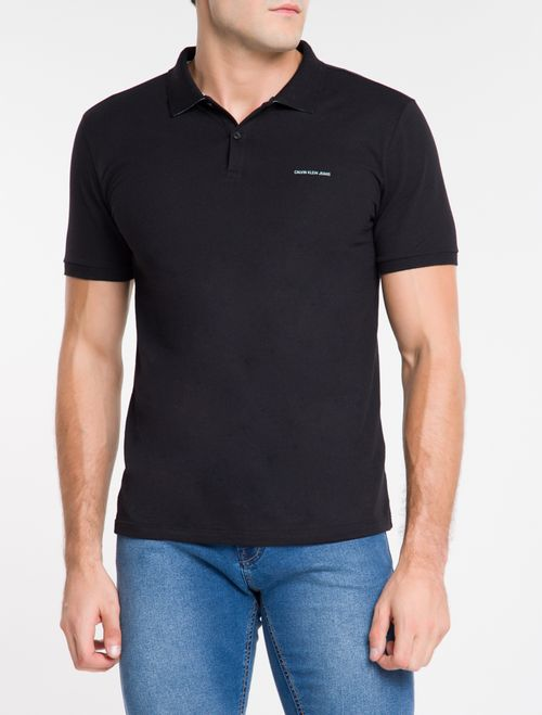 Polo Ckj Mc Silk Logo - Preto