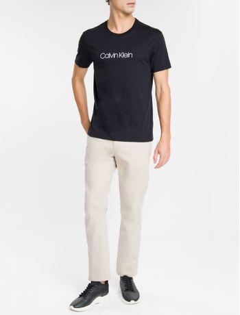 Camiseta-Slim-Basica-Flame-Calvin-Klein---Preto