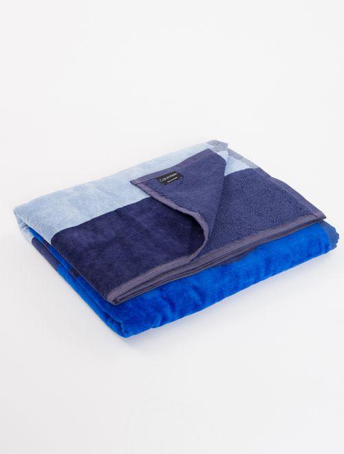 Toalha Ckj Listras Calvin Klein - Azul Royal