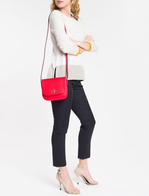 Bolsa Tira Colo Em Pu Com Placa Metal - Vermelho Escuro