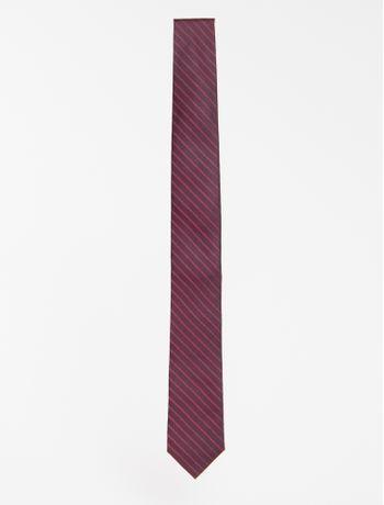 Gravata-Slim--Mini-Lisrado-Pontilhado---Bordo