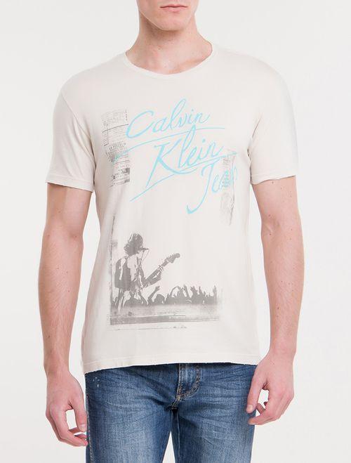 Camiseta CKJ MC Concert CKJ - Areia