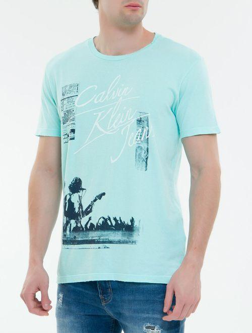 Camiseta CKJ MC Concert CKJ - Verde Claro