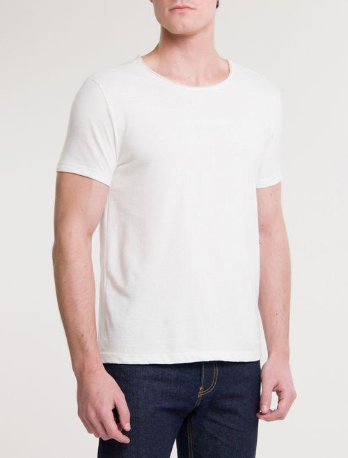 Camiseta Ckj Mc Sustainable Logo Peito - Off White