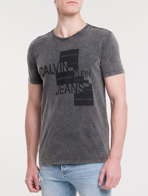 Camiseta CKJ MC Etiqueta Silk - Preto