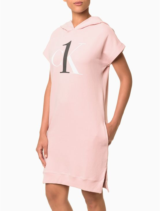 Vestido-Moletom-Ck-One-Loungewear---Rosa-Claro