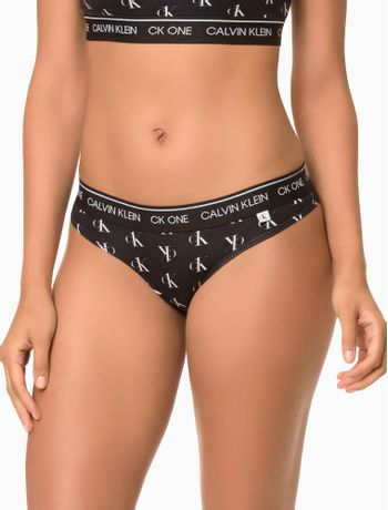 Calcinha-Tanga-Cotton-Estampado-Ck-One---Preto