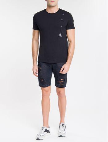 Camiseta-Ckj-Mc-Estampa-Rosa-Ck1---Preto