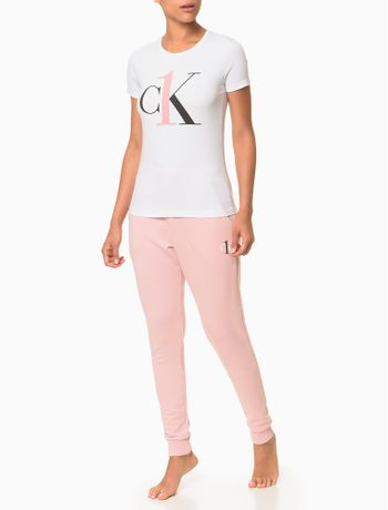 Camiseta-Feminina-Algodao-Ck-One-Lounge---Branco-2