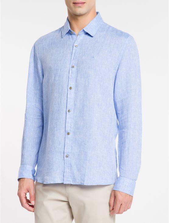 Camisa-Regular-Cannes-Linen---Azul-Claro