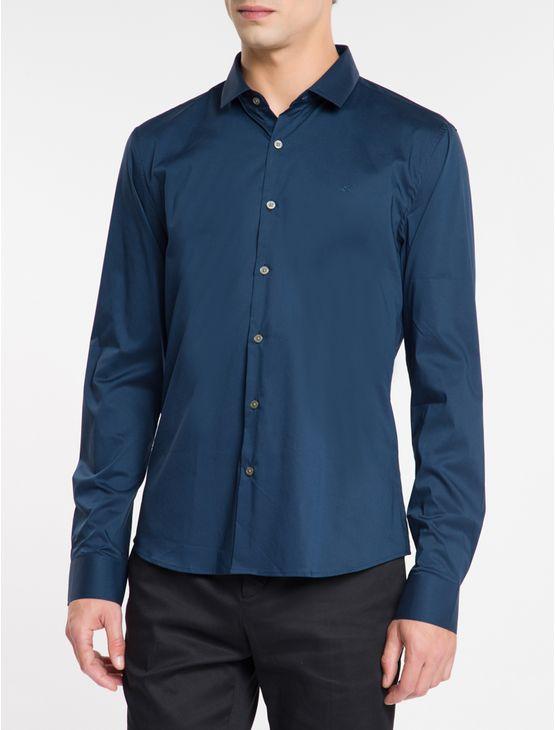 Camisa-Slim-Cannes-Toque-Suave---Azul-Marinho