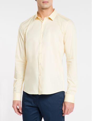 Camisa-Slim-Cannes-Toque-Suave---Amarelo-Claro
