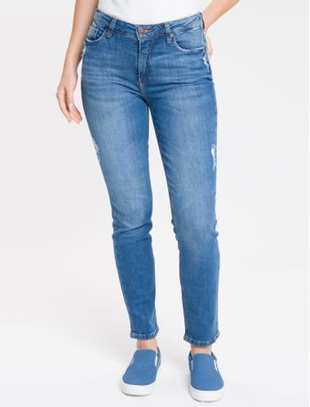 Calca-Jeans-Five-Pockets-Mid-Rise-Slim---Azul-Medio