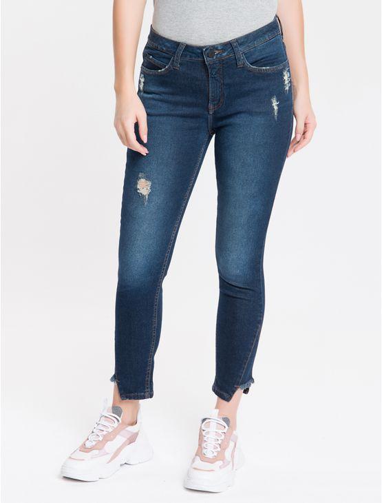 Calca-Jeans-Five-Pockets-Mid-Rise-Skinny---Marinho-