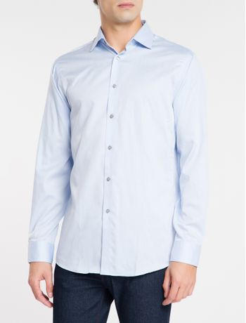 Camisa-Regular-Fit-Ml-Ck-Non-Iron---Azul-Medio-