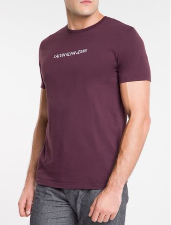 Camiseta-Ckj-Mc-Institucional---Bordo-