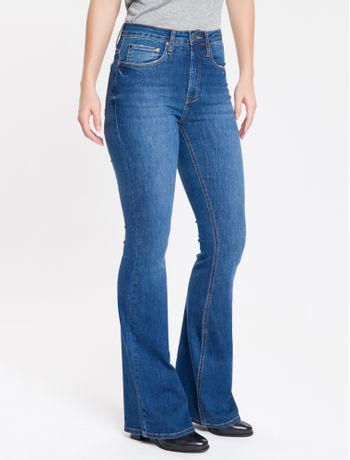 Calca-Jeans-Five-Pockets-High-Rise-Flare---Marinho-