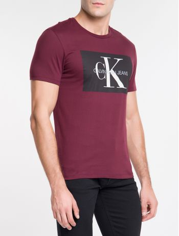 Camiseta-Ckj-Mc-Re-Issue-Retangulo---Bordo-