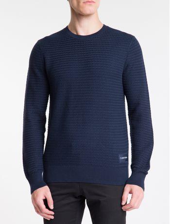 Sweater-Malha-Longa-Gola-Careca---Marinho-
