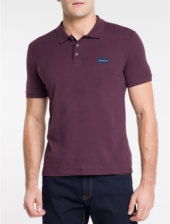 Polo-Ckj-Mc-Est-Logo-Quadrado-No-Peito---Bordo-