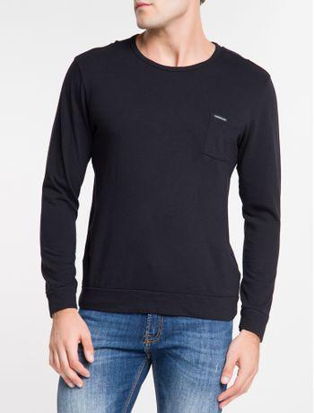 Camiseta-Ckj-Ml-Malhao---Preto-