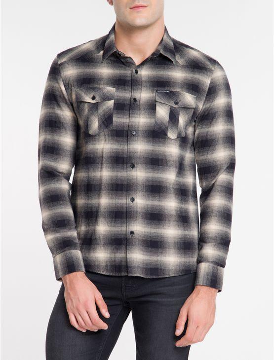 Camisa-Ml-Reg-Xadr-Flan-West-N-D---Preto-