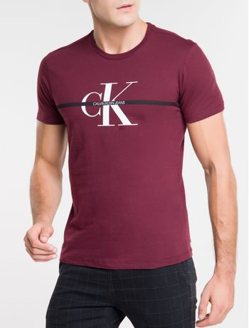 Camiseta-Ckj-Mc-Re-Issue-Faixa---Bordo-