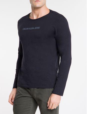 Camiseta-Ckj-Ml-Logo-Basico---Preto-