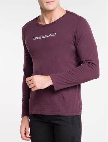 Camiseta-Ckj-Ml-Logo-Basico---Bordo-