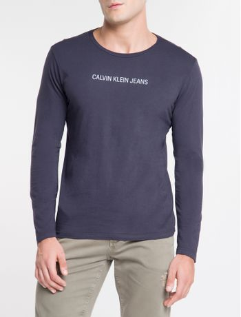 Camiseta-Ckj-Ml-Logo-Basico---Marinho-