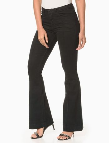 Calca-Jeans-Five-Pockets-Flare---Preto-