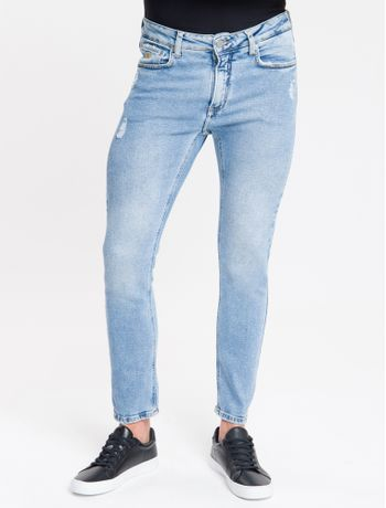 Calca-Jeans-Five-Pockets-Slim---Azul-Claro-