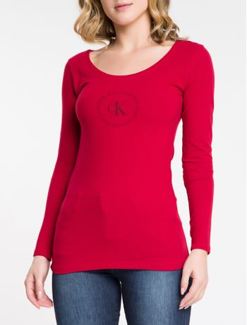 Blusa-Ml-Slim-Logo-Cot-Gu---Cereja-