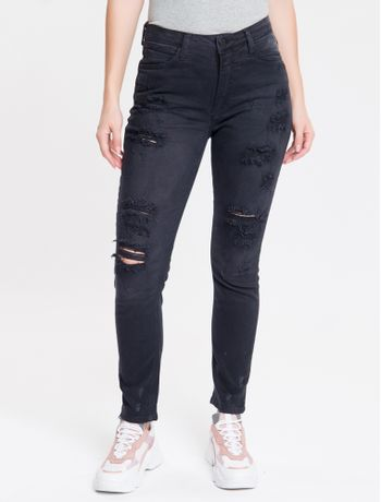 Calca-Col-Five-P-High-Rise-Skinny-Rasgos---Preto-