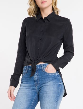 Camisa-Ml-Reg-Lisa-Tencel-No-Frontal---Preto-