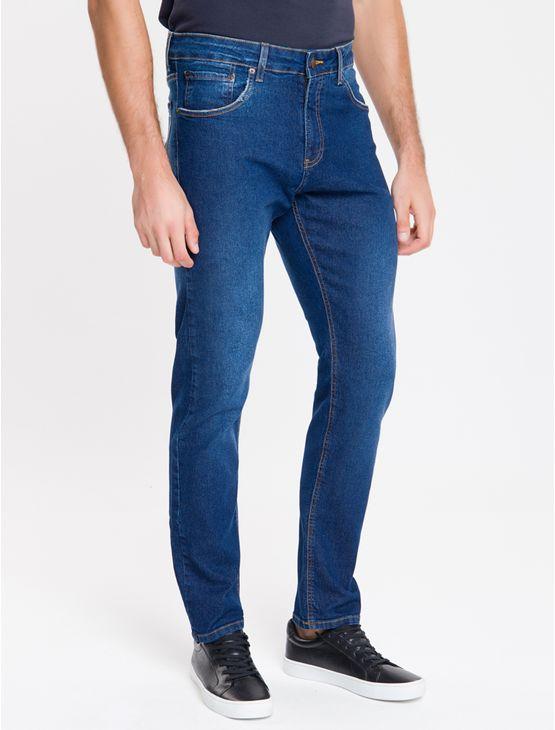 Calca-Jeans-Five-Pockets-Straight---Azul-Medio-