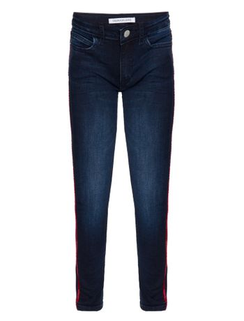 Calca-Jeans-Five-Pockets-Skinny-Logo---Marinho-