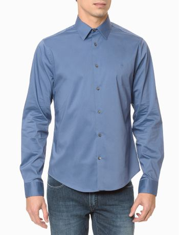 Camisa-Extreme-Slim-Fit-Flex-Collar---Azul-Medio-