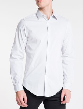 Camisa-Slim-Fit-Ml-Flex-Collar-M-Listra---Cinza-Claro-