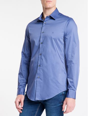 Camisa-Slim-Mg-Longa-Flex-Collar---Marinho-